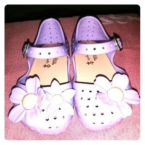 Mini Melissa Lilac Flowered Shoes